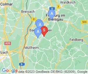Karte für Alemannenbad Staufen