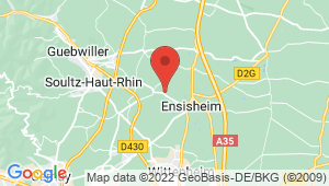 Carte de localisation du centre de contrôle technique UNGERSHEIM