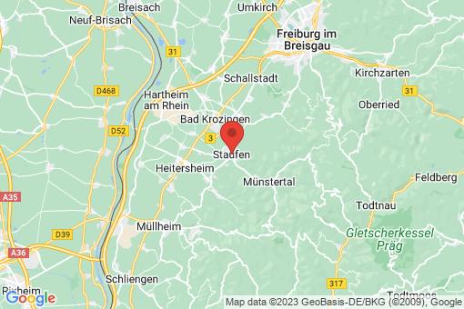 Karte Staufen im Breisgau