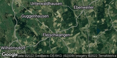 Google Map of Fleischwangen