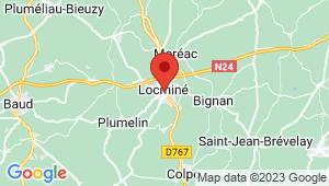 Carte de localisation du centre de contrôle technique LOCMINE