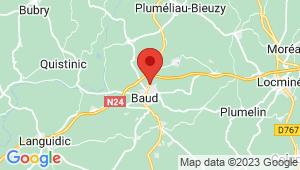 Carte de localisation du centre de contrôle technique BAUD