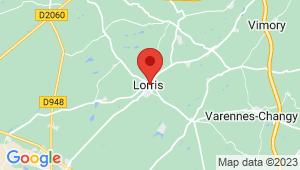 Carte de localisation du centre de contrôle technique LORRIS