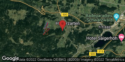 Google Map of Hinterzarten