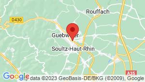 Carte de localisation du centre de contrôle technique GUEBWILLER