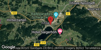 Google Map of Titisee-Neustadt
