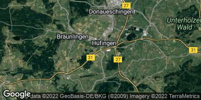 Google Map of Hüfingen