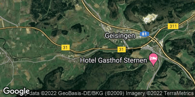 Google Map of Geisingen