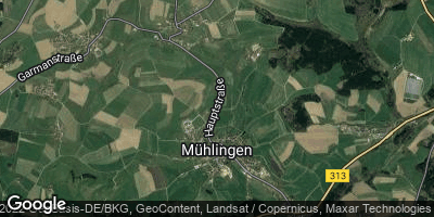 Google Map of Mühlingen