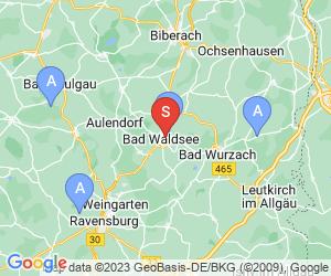 Karte für Golfclub Oberschwaben-Bad Waldsee e.V.