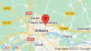 Carte de localisation du centre de contrôle technique ORLEANS