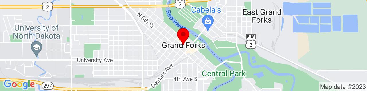 Google Map of 47.9252568, -97.0328547