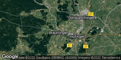 Google Map of Bräunlingen