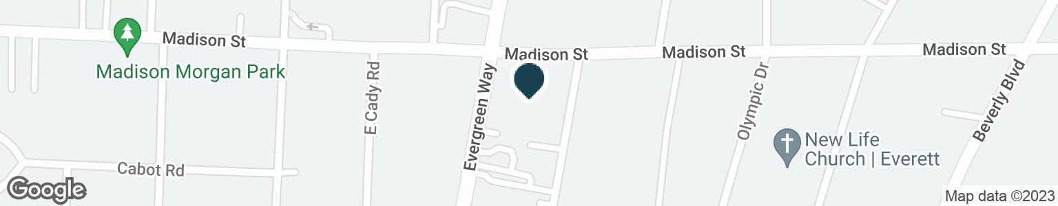 Google Map of6807 EVERGREEN WAY