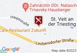 Cafe Restaurant Zukunft - Karte