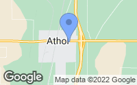 Map of Athol, ID