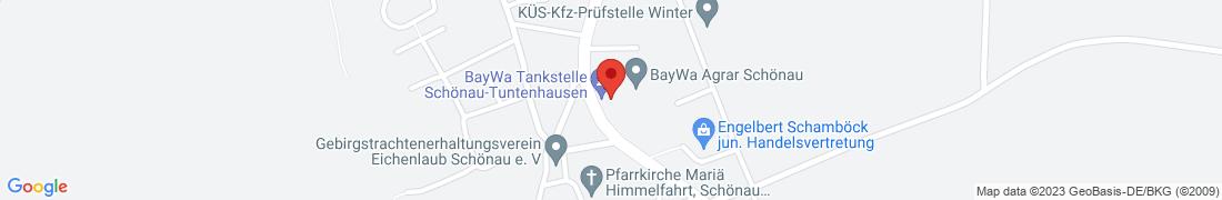BayWa Tankstelle Tuntenhausen-Schönau Anfahrt