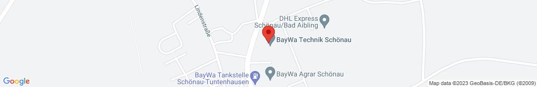 BayWa Technik Schönau Anfahrt