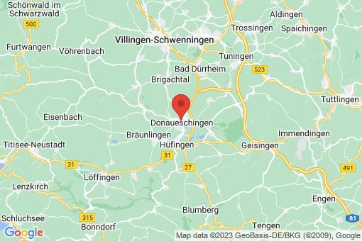 Karte Donaueschingen