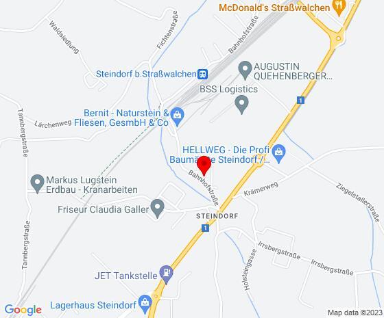 Google Map of Bahnhofstraße 110, 5204 Steindorf bei Straßwalchen