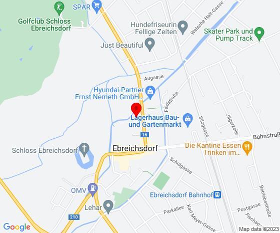 Google Map of Wienerstrasse 17, 2483 Ebreichsdorf (Unterwaltersdorf)