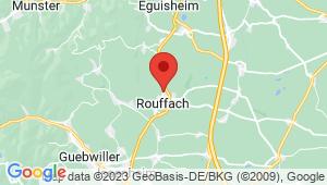 Carte de localisation du centre de contrôle technique ROUFFACH