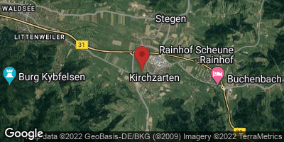 Google Map of Kirchzarten
