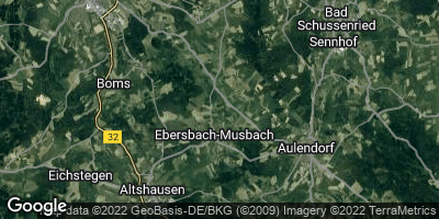 Google Map of Ebersbach-Musbach