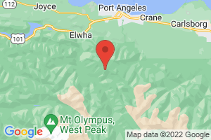 Map of Olympic National Park
