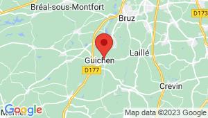 Carte de localisation du centre de contrôle technique GUICHEN