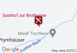 """Gasthof-Pension """"Zur Bruthenne"""" - Karte"""