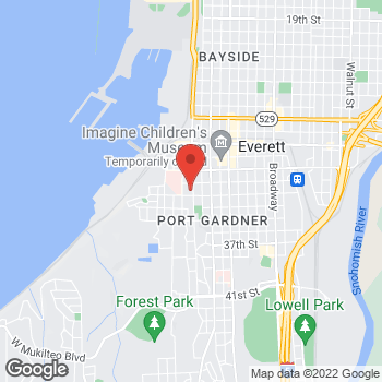 Map of Sooik Park, DDS at 3216 Norton Ave, Everett, WA 98201