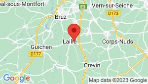 Carte de localisation du centre de contrôle technique Laillé