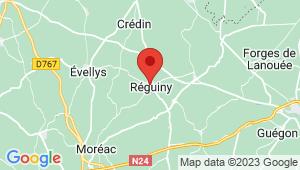 Carte de localisation du centre de contrôle technique REGUINY