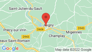 Carte de localisation du centre de contrôle technique JOIGNY