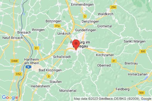 Karte Freiburg im Breisgau