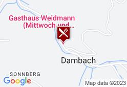 Gasthaus Weidmann - Karte