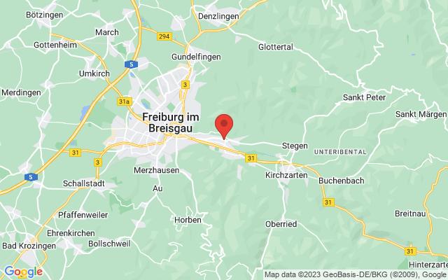 Karte Freiburg