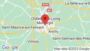 Carte de localisation du centre de contrôle technique MONTARGIS