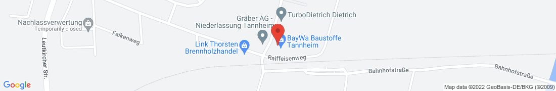 BayWa Baustoffe Tannheim Anfahrt