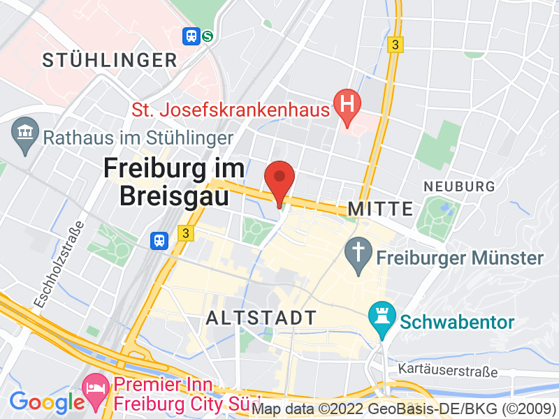 Map of Rektorat der Universität Freiburg, 6. OG, Raum 06002 + 06003