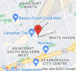 Google Map of 4700+Sheppard+Avenue%2CScarborough%2COntario+M1S+3V6