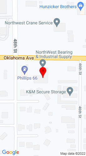 Google Map of NW Bearing & Industrial Supply 4701 Oklahoma Avenue, Woodward, OK , 73801
