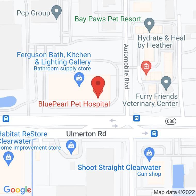 Google Map of 4701 Ulmerton Road Suite 500, Clearwater, FL, 33762