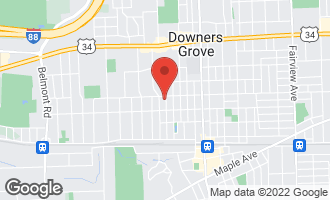 Map of 4708 Middaugh Avenue DOWNERS GROVE, IL 60515
