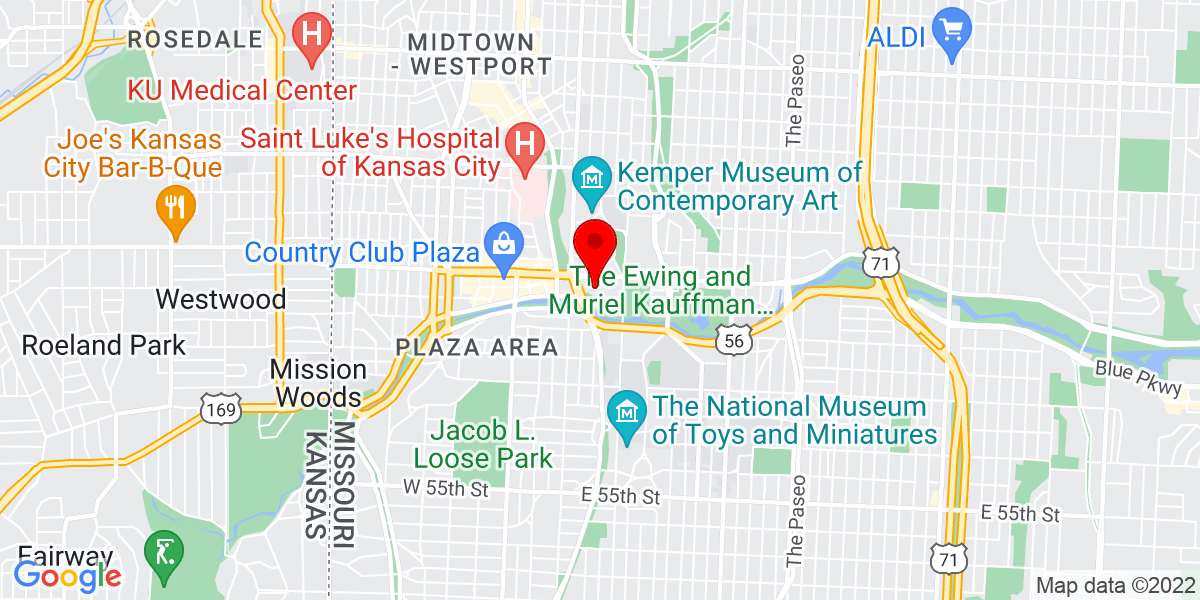 Google Map of 4717 Grand Ave, Kansas City, MO 64112