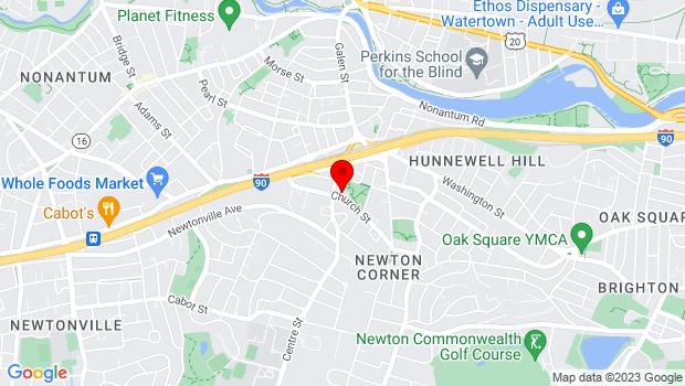 Google Map of 474 Centre St., Newton, MA