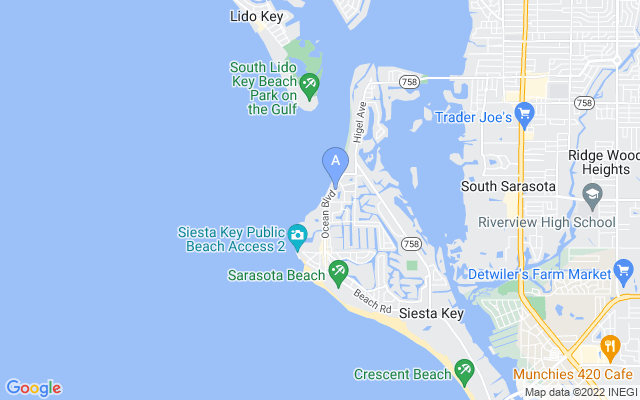 4740 Ocean Blvd #101 Sarasota Florida 34242 locatior map