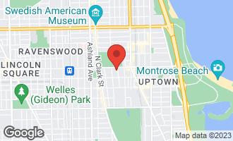 Map of 4744 North Malden Street #1 CHICAGO, IL 60640
