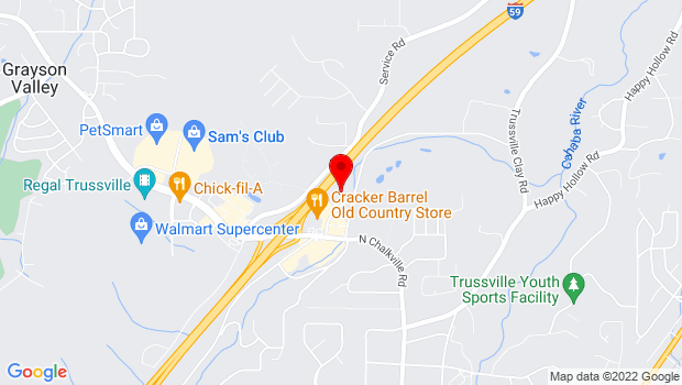 Google Map of 4750 Norrel Drive, Trussville, AL 35173